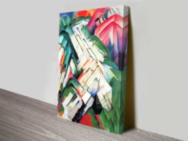 Mountains by Franz Marc Expressionist Cubism Canvas Wall Art Australia