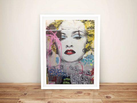 Mr Brainwash Marilyn Framed Wall Art