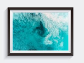 Mullaloo Swirl Western Australia Aerial Photo Framed Artwork