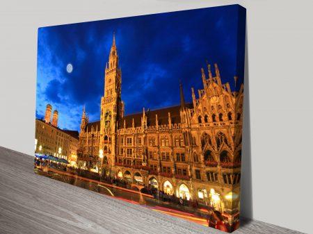 Munich Night Canvas Art Print