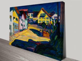 Murnau Burggrabenstrasse 1 Abstract Print by Wassily Kandinsky