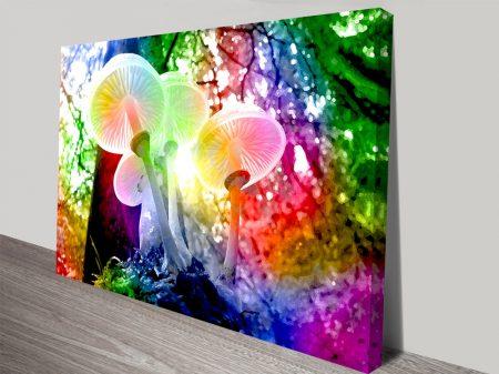 Magic Mushrooms Pop Art Canvas Print.