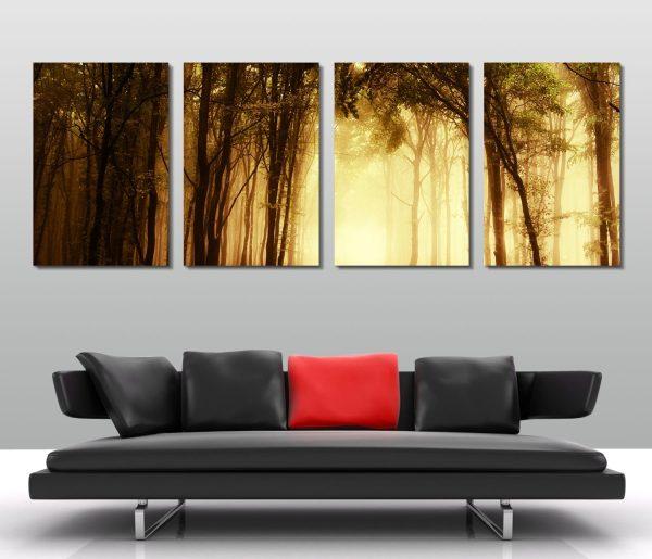 mystical-woods-quad-set-artwork-online-canvas-print