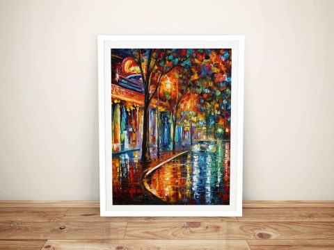 Night Cafe Afremov Framed Wall Art