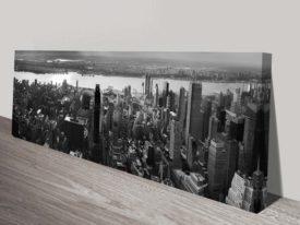 new york black white panoramic canvas print