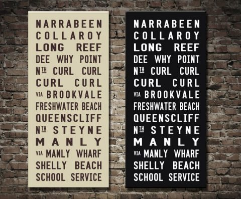 Narrabeen Tram Roll Custom Canvas