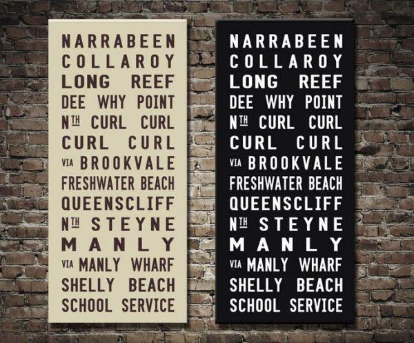 Narrabeen Tram Roll Custom Canvas