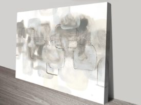Neutral Stacking White III Watercolour Canvas on Prints