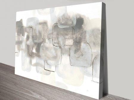 Neutral Stacking White III Watercolour Canvas on Prints