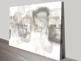 Neutral Stacking White IV Perth Canvas Print Artworks