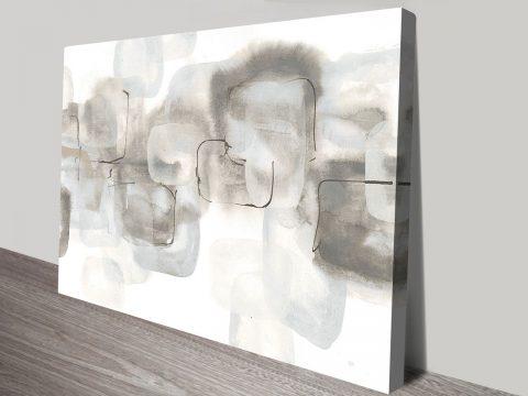 Neutral Stacking White IV Perth Canvas Print Artworks