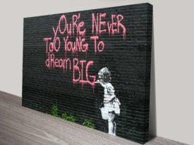 Inspirational urban art prints