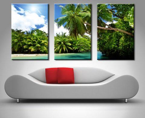 Papua New Guinea Paradise triptych canvas