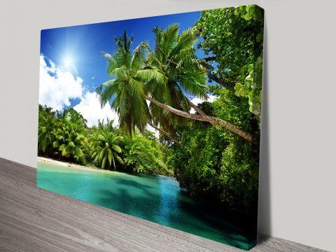 New Guinea Paradise canvas print