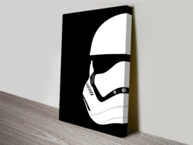 New Storm Trooper Helmet Star Wars Art Canvas