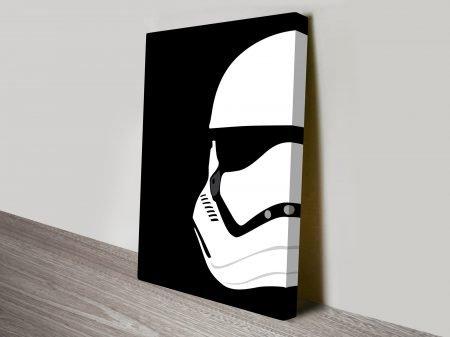 Storm Trooper Helmet Star Wars Art