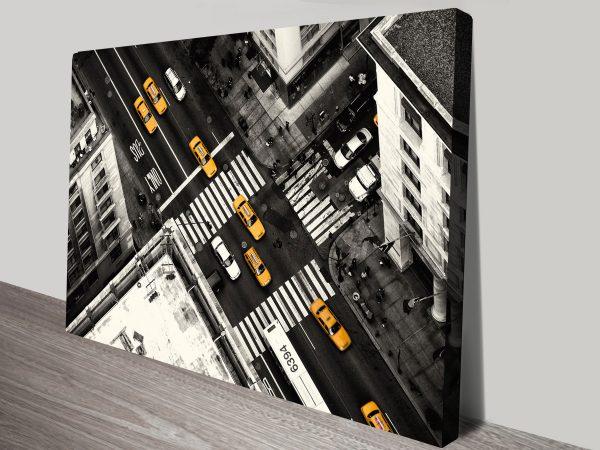 New York Cabs canvas print