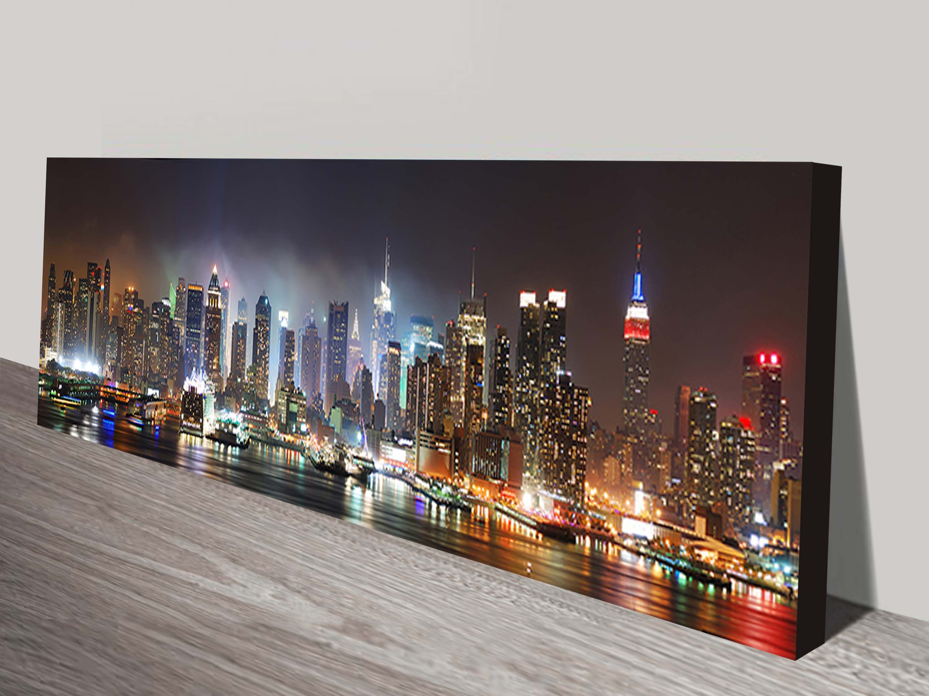 new york skyline panorama wall print on canvas usa
