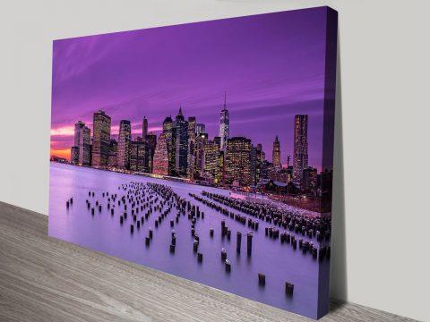 New York Violet Sunset canvas print art