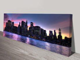 New York Manhattan Skyline Panoramic Art