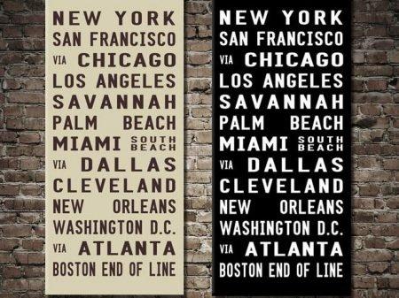 USA Tram Bus Scroll Art