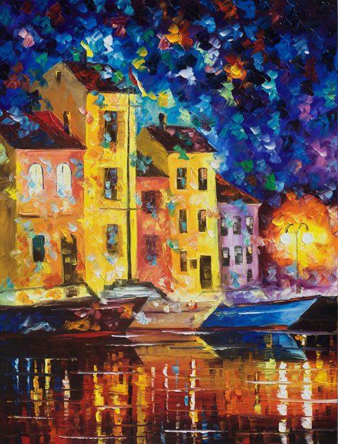 Night City Afremov Wall Art Prints