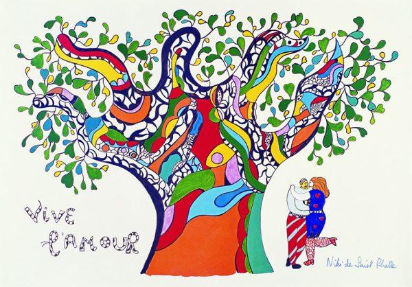 Affiche Vive l'amour Canvas Print