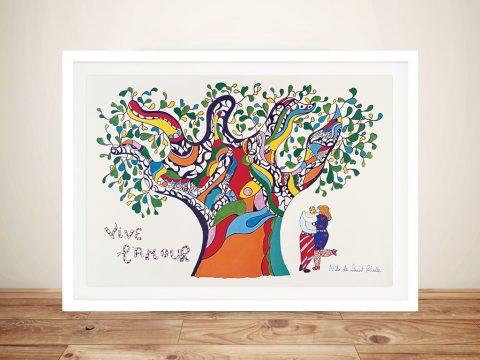 Niki De Saint Phalle vive lamour Framed Art Print Melbourne