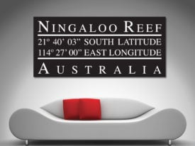 Ningaloo Reef-Longiture Latitude Canvas Wall Art