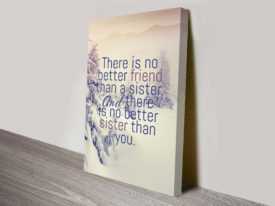 no better friend quote inspirational canvas print