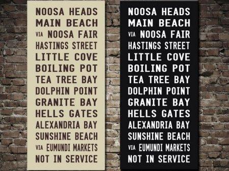 Noosa Heads Bus Scroll Online Tram Banner