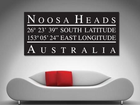 Noosa heads cordinates canvas wall art