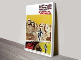 North by Northwest Movie Poster Canvas Print