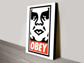 obey shepard fairey canvas prints