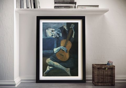 Old Guitarist Chicago Picasso Fine Art Painting Print