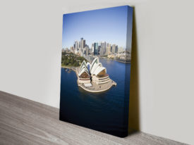 Opera house from the air canvas art