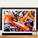 Orange Abstract Street Art