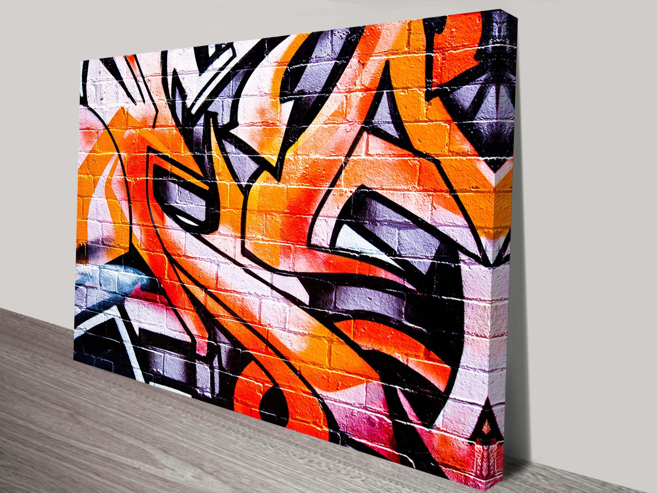 Orange Abstract Street Art Canvas