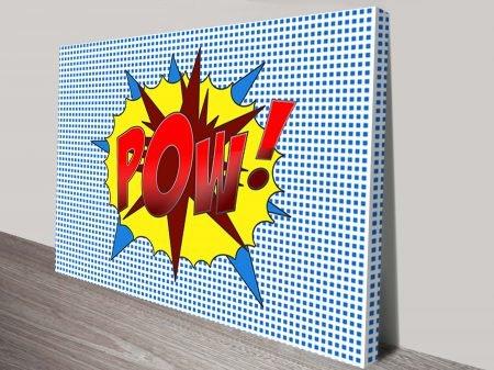 Pow Cartoon Pop Art Canvas Print