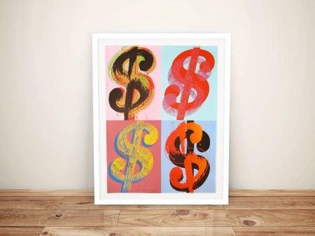 Warhol Warhol Dollar Sign 284 Quad Pop Art Prints