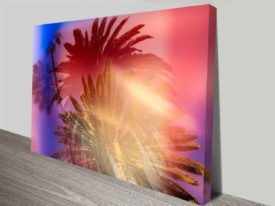 Palm Tree Lovers Artwork Photo On Canvas Print Wall Art