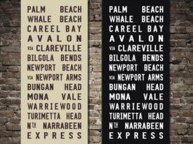 Palm Beach Tramscroll Bus Sign Art