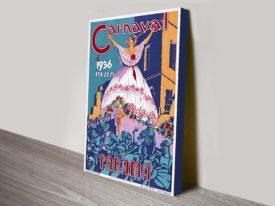 Panama Carnaval travel poster wall print