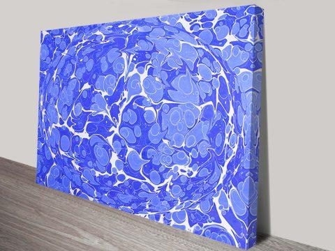 Marbling Paper Abstract Wall Art Print