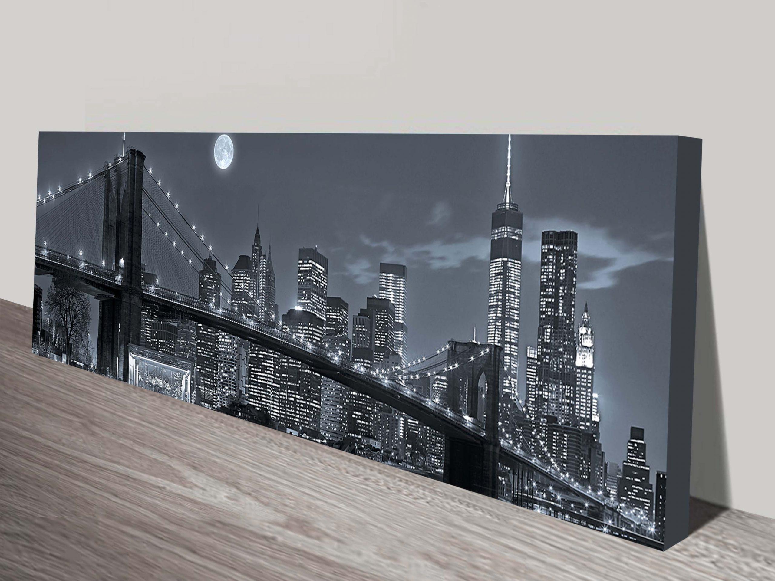Panoramic view New York City Manhattan Wall Art