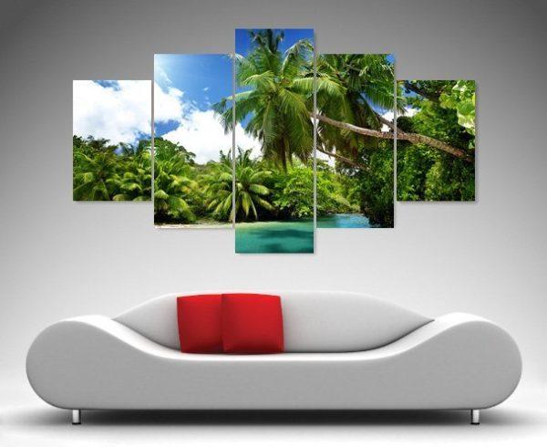 Papua New Guinea Paradise 5 panel canvas