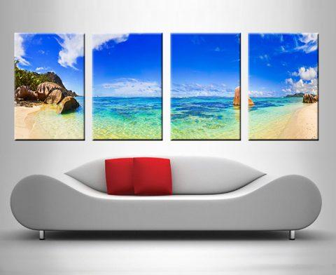 paradise lost 4 panel wall art canvas print