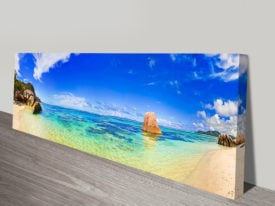 Paradise panoramic wall art