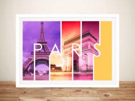 Paris Canvas Photo Prints