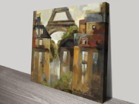 Paris Late Summer Square Print on Canvas France